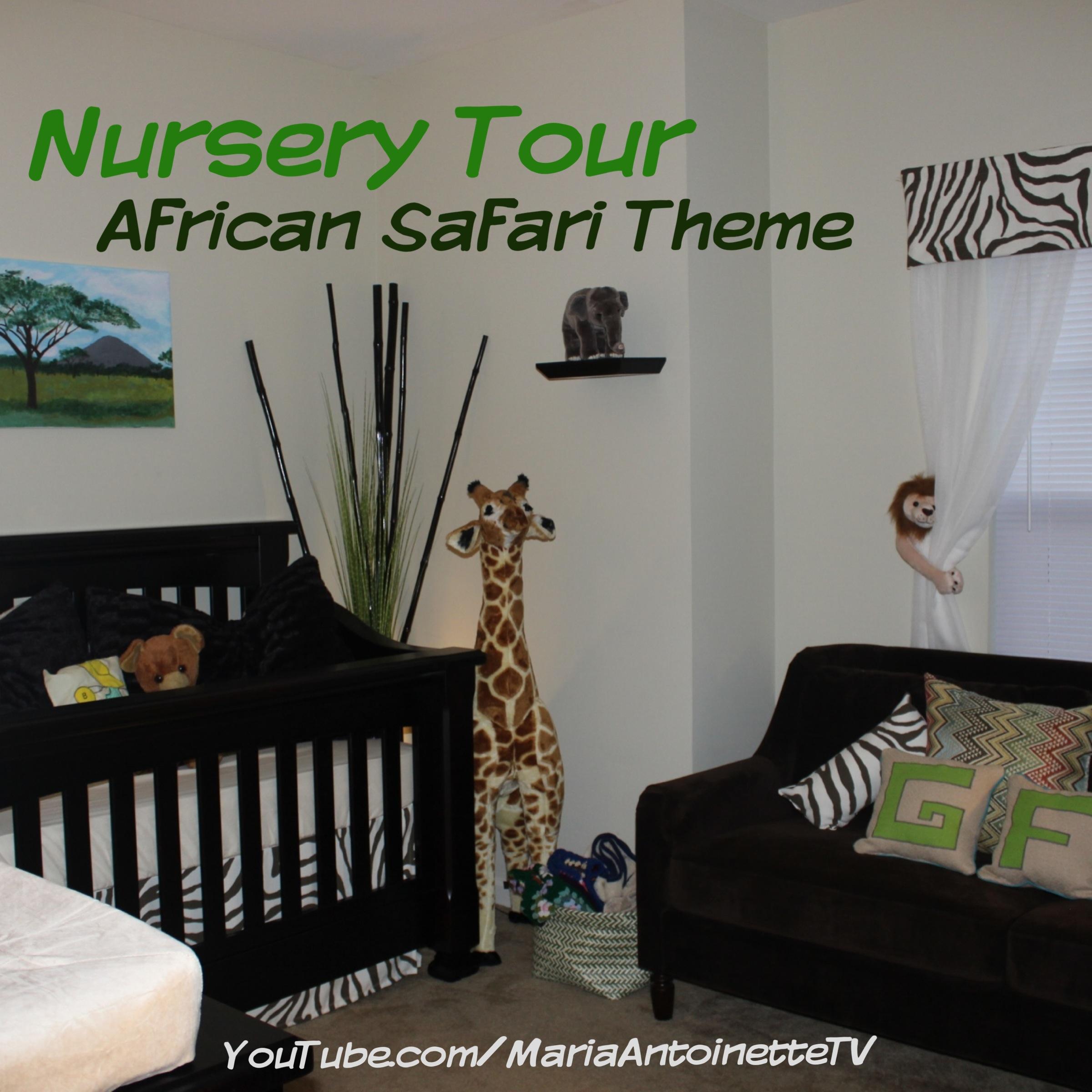 Nursery Tour – African Safari Theme