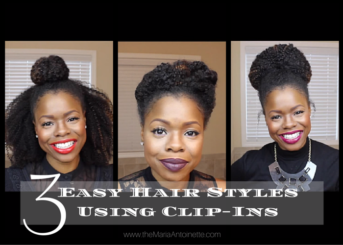 3 Easy Hairstyles Using Clip-ins