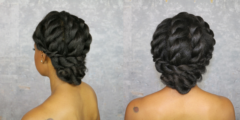 A Simple and Stunning Natural Hair Up-Do