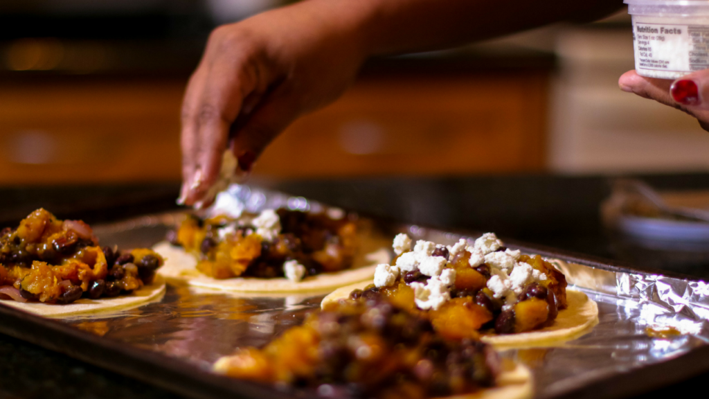 #MeatlessMonday: Roasted Butternut Squash, Black Bean & Goat Cheese Tostada