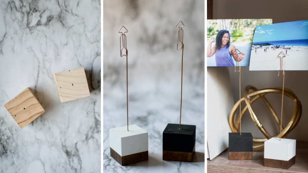 Do It Yourself: Chic Cubic Wooden Photo Holder