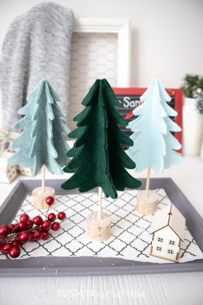 10 Easy Do It Yourself Mini Christmas Tree Crafts